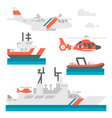 Flat design coast guard vehicle vector image