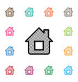 isolated blueprint icon house plan element vector image