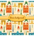 Landmarks of France colorful seamless pattern vector image