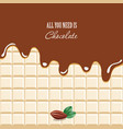melted chocolate background with sample text vector image
