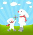rabbit cartoons vector image