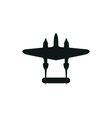 simple black retro Airplane icon on white vector image