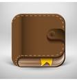 User interface eBook button icon vector image