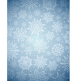 Grey christmas background with snowflakes and star vector image