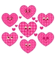 Patchwork hearts vector image vector image