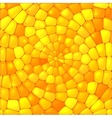 Yellow abstract stained glass mosaic background vector image