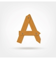 Wooden Boards Letter A vector image