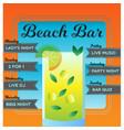 beach bar poster vector image