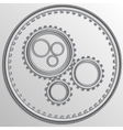 metallic chrome gear wheels vector image