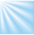 Blue sky with ray of lights vector image