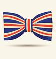 Britain flag bow-tie vector image