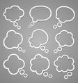 Bubble for speech vector image