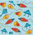 colorful ornamental fishe kites vector image