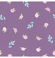 Cute floral violet pattern vector image