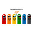 garbage cans for kids vector image