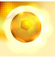 Golden soccer ball background vector image