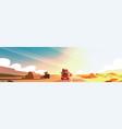 horizontal banner with big semi truck trailer vector image