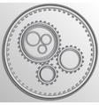 metallic chrome gear wheels vector image