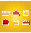 monochrome icons with Crown vector image
