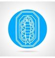 Prepared fish blue round icon vector image