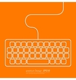Stock Linear icon keyboard vector image