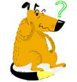 thinking dog thinking funny dog sitting and vector image