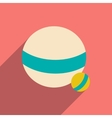 Flat with shadow icon and mobile application ball vector image