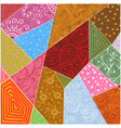 abstract patchwork background vector image