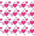 Heart shape love symbol seamless pattern vector image