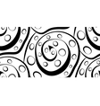 Seamless abstraction of spirals and circles modern vector image vector image