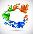 Liquid multicolor background vector image