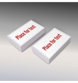 White product cardboards with clean label package vector image