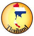 button Thailand vector image vector image