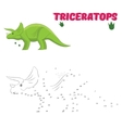 Educational game draw dinosaur vector image