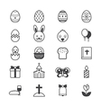 Easter Icons Line vector image
