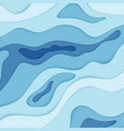 abstract blue wavy paper 3d diffusive level vector image