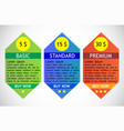 business info graphics tabs template for vector image