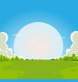 cartoon moonrise background vector image