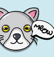 cute cat animal of nature fauna vector image