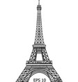 eiffel tower in paris eps 10 vector image