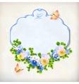 Floral Vintage Pansy Flower Card vector image