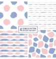 Set of seamless pattern stripes polka dots vector image