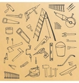 sketch tools vector image