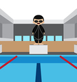Swimming pool with swimming athlete vector image