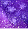 violet watercolor cosmic background vector image