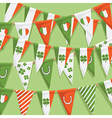 irish bunting background vector image vector image