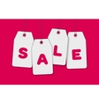 Blank price sale tag composition isolated on pink vector image vector image
