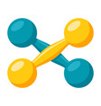 a pair of dumbbells vector image vector image