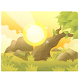 Sun Landscape Background vector image vector image
