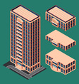 isometric modern building vector image vector image